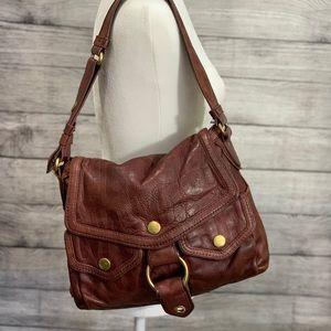 Marc Jacobs Maroon Leather HoBo Bag